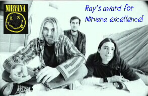 Ray's award of Nirvana excellence!